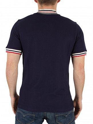 Fila Vintage Peacoat Skipper Baseball Tipped Logo Polo Shirt