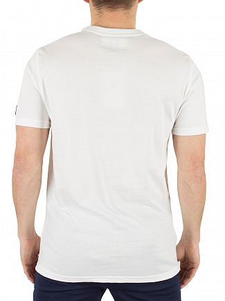 Fila Vintage White Lorenzi Raglan Graphic T-Shirt
