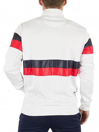 Fila Vintage White Carillo Bomber Logo Jacket