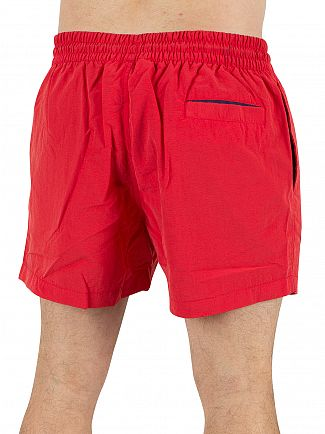 Fila Vintage Chinese Red Artoni Water Logo Swim Shorts