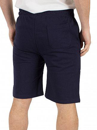 Fila Vintage Peacoat Viktor Flecked Fleece Logo Shorts
