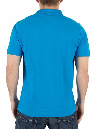 Original Penguin Diva Blue Raised Rib Slim Fit Logo Polo Shirt