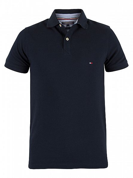 tommy hilfiger midnight jacquard slim fit logo polo shirt mw0mw00688. Black Bedroom Furniture Sets. Home Design Ideas