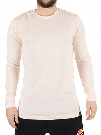 11 Degrees Washed Pink Core Longsleeved Logo T-Shirt