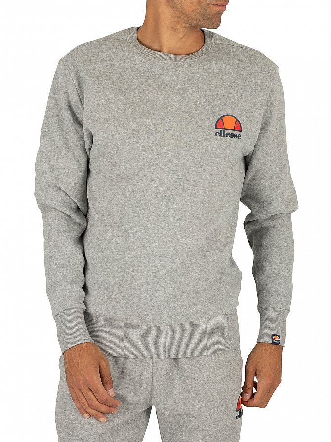 Ellesse Athletic Grey Marl Diveria Left Chest Logo Sweatshirt