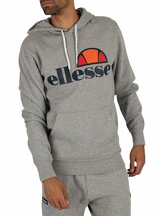 Ellesse Athletic Grey Marl Gottero Graphic Hoodie