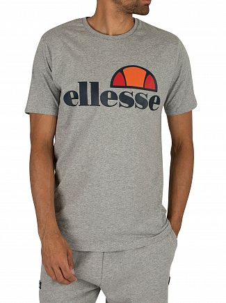 Ellesse Athletic Grey Marl Prado Graphic T-Shirt