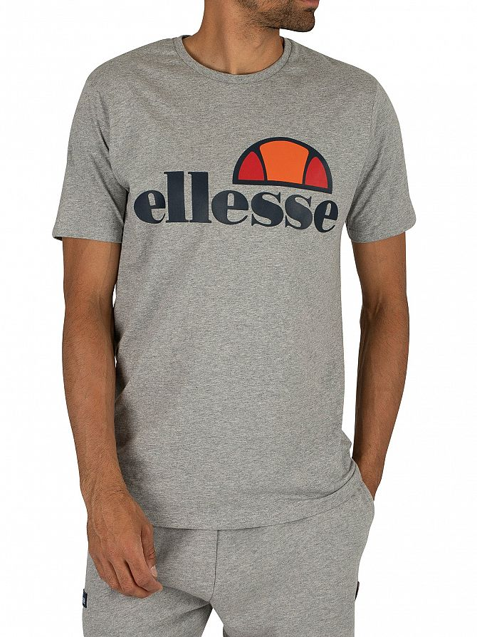 Ellesse Athletic Grey Marl Prado Graphic T-Shirt