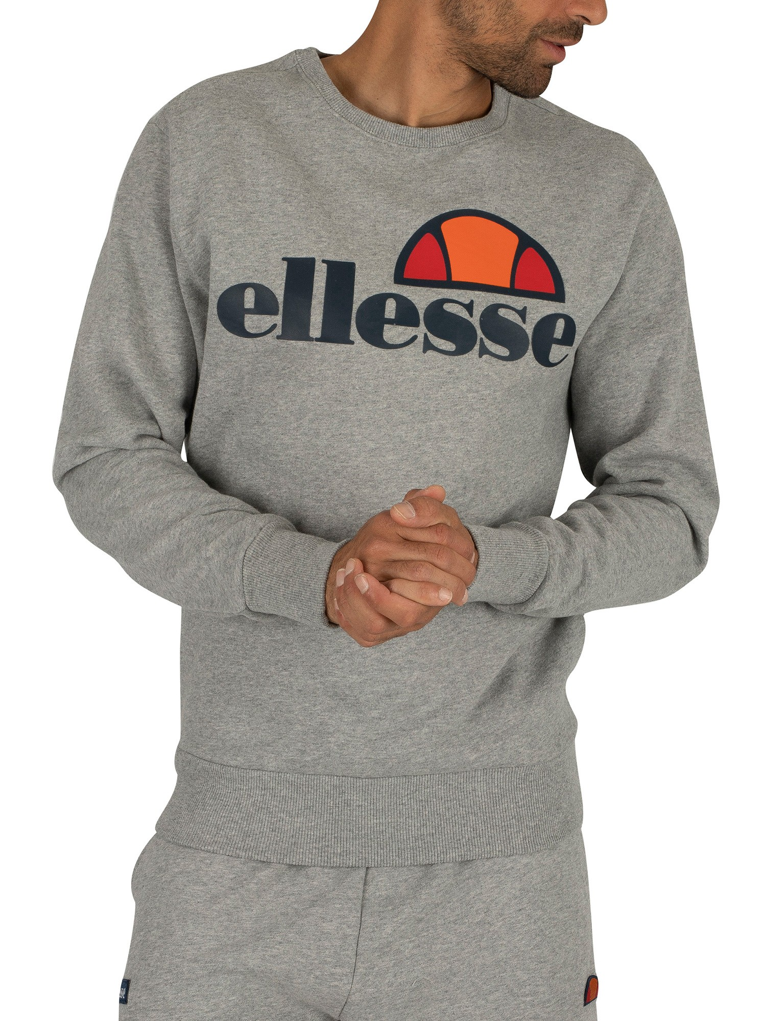 ellesse herren succiso graphic sweatshirt grau ebay. Black Bedroom Furniture Sets. Home Design Ideas