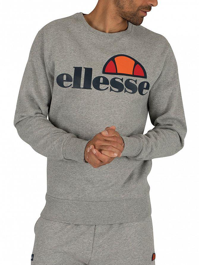 Ellesse Athletic Grey Marl Succiso Graphic Sweatshirt
