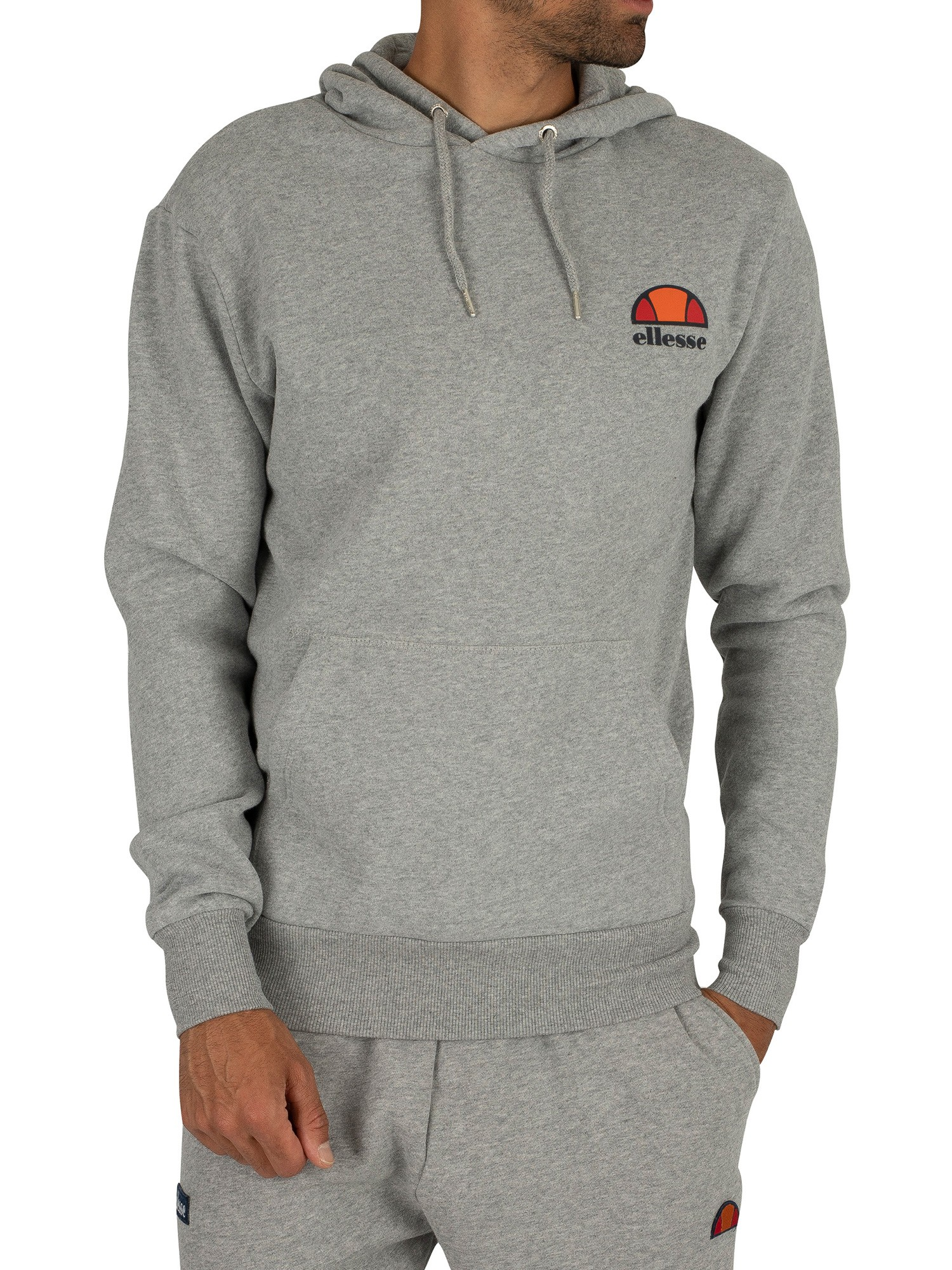 ellesse herren toce left logo hoodie grau ebay. Black Bedroom Furniture Sets. Home Design Ideas