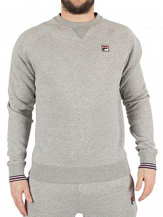 Fila Vintage Heather Grey Pozzi Logo Marled Sweatshirt