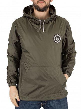 Hype Khaki Kagoule Crest Logo Jacket