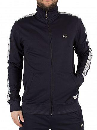 Hype Navy Sporting Logo Zip Track Jacket
