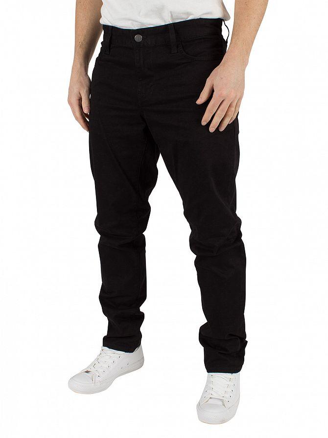 J Lindeberg Black Grant 5-Pocket Contrast Twill Jeans