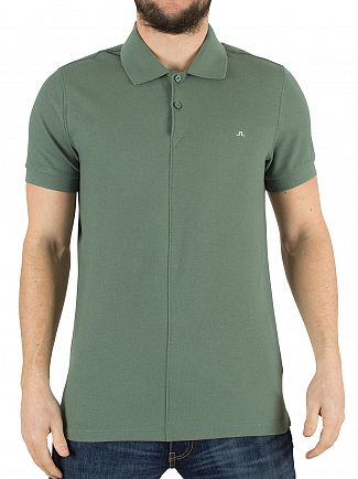 J Lindeberg Dusty Green Rubi Slim Fit Logo Polo Shirt