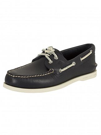 Sperry Top-Sider Navy A/O 2 Eye Slip On Boat Shoes