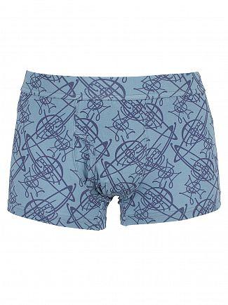Vivienne Westwood Light Blue All Over Logo Pattern Trunks