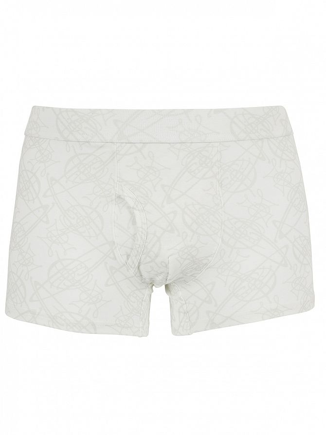 Vivienne Westwood White Faint All Over Logo Pattern Trunks
