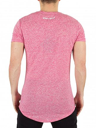 11 Degrees Berry Speckle Composite Marled Logo T-Shirt