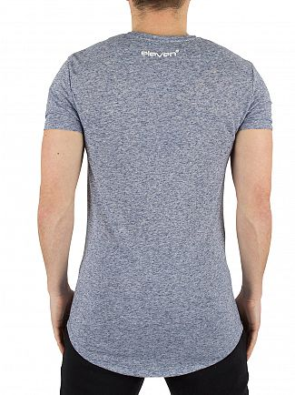 11 Degrees Blue Speckle Composite Marled Logo T-Shirt