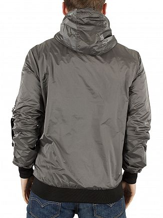11 Degrees Grey Ice Hooded Logo Jacket