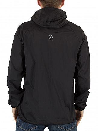 Converse Black Blur Nylon Logo Jacket