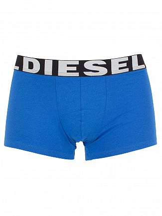 Diesel Turquoise/Royal/Blue Shawn Three Pack Logo Trunks
