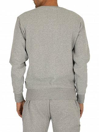 Ellesse Athletic Grey Marl Diveria Left Chest Logo Sweatshirt