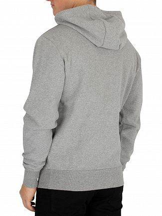 Ellesse Athletic Grey Marl Miletto Zip Logo Hoodie