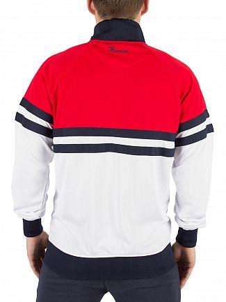 Ellesse Optic White/True Red Rimini 3 Panel Logo Tracktop Jacket
