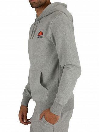 Ellesse Athletic Grey Marl Toce Left Logo Hoodie