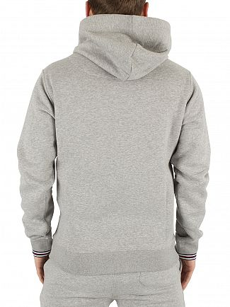 Fila Vintage Heather Grey Tenconi Zip Marled Logo Hoodie