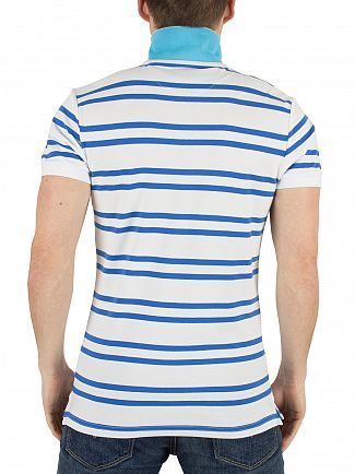 Gant White Contrast Pique Shortsleeved Logo Polo Shirt