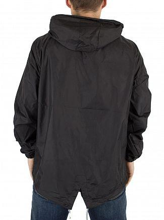 Hype Black Kagoule Crest Logo Jacket