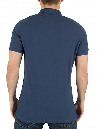 J Lindeberg Blue Rubi Slim Fit Logo Polo Shirt