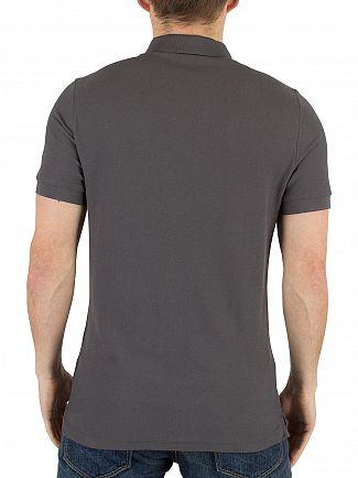 J Lindeberg Dark Grey Rubi Slim Fit Logo Polo Shirt