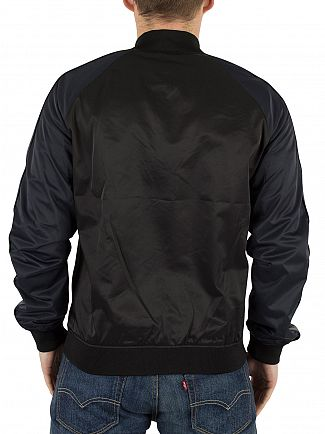 J Lindeberg Black Thomas 72 Satin Bomber Jacket