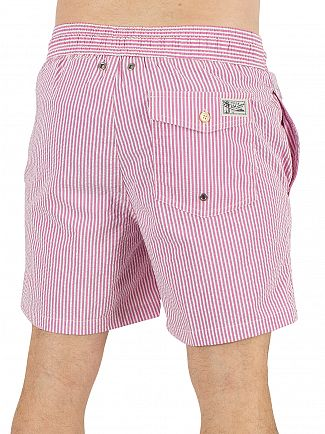 Polo Ralph Lauren Rhododendron Seersucker Striped Traveller Swim Shorts