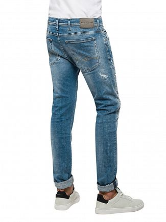 Replay Light Denim Jondrill Ripped Skinny Fit Jeans