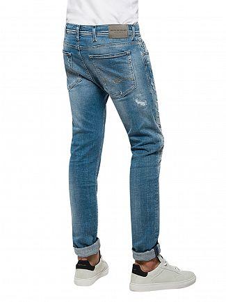 Replay Light Denim Jondrill Ripped Skinny Fit Jeans