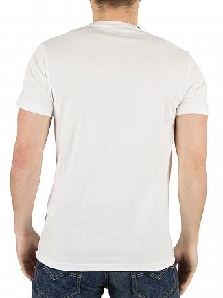 Replay White Ring Fingers Graphic T-Shirt