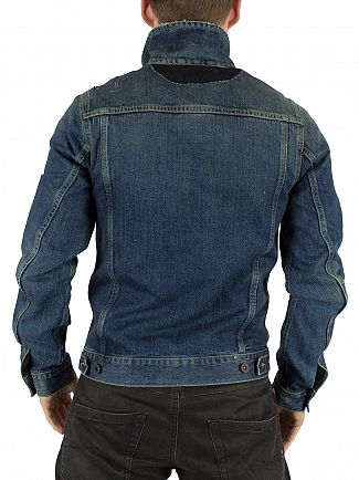 Scotch & Soda Rocky Road Amsterdam Blauw Denim Ripped Jacket
