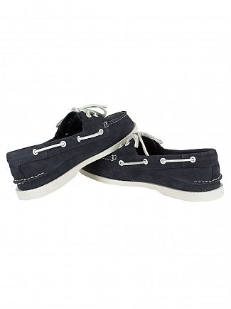Sperry Top-Sider Washable Navy A/O 2 Eye Slip On Boat Shoes