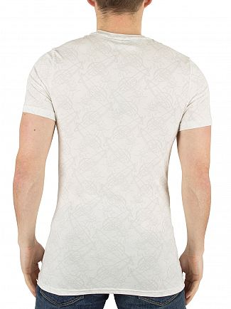 Vivienne Westwood White Faint All Over Logo Pattern T-Shirt