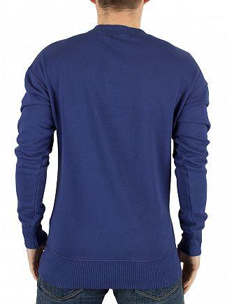 Vivienne Westwood Blue News All Over Logo Mix Sweatshirt