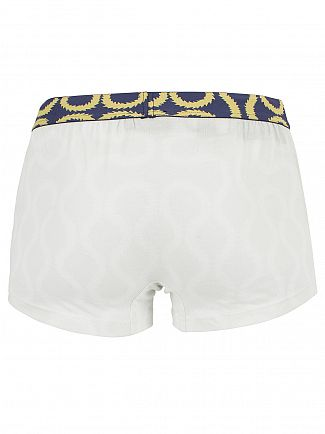 Vivienne Westwood White Pattern Waistband Trunks