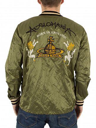 Vivienne Westwood Green Souvenir Bomber Jacket