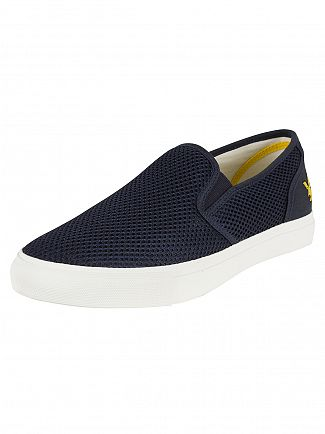 Lyle & Scott Navy Etterick Mesh Canvas Trainers