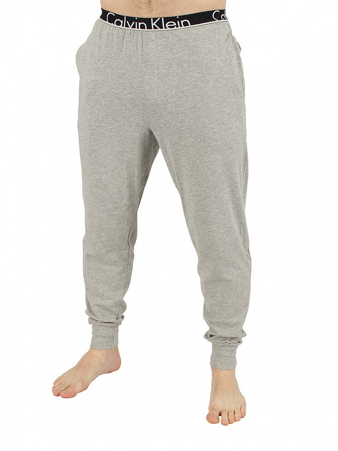 Calvin Klein Grey Heather Marled Logo Pyjama Bottoms